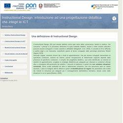 Instructional Design: introduzione ad una progettazione didattica che integri le ICT