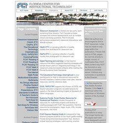The Florida Center for Instructional Technology - Publications and Products