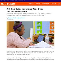 A 5-Step Guide to Making Your Own Instructional Videos to Replace Lectures