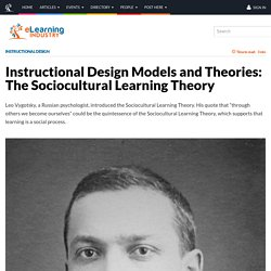 about Leo VYGOTSKY : The Sociocultural Learning Theory (en 3 pts clés: du condensé;-)