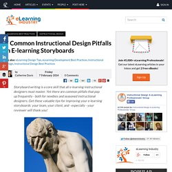 7 Common Instructional Design Pitfalls in E-learning Storyboards - eLearning Industry