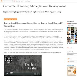Instructional Design and Storytelling, or Instructional Design IN Storytelling
