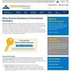 Meta-Analysis Database of Instructional Strategies