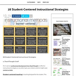 28 Student-Centered Instructional Strategies -