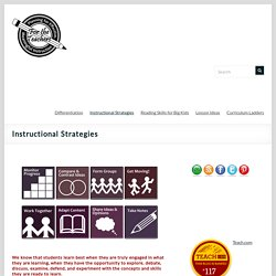 Instructional Strategies – For the Teachers