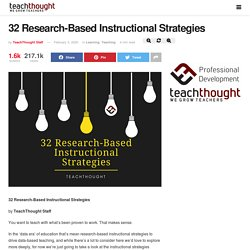 32 Research-Based Instructional Strategies -