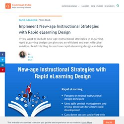 Rapid eLearning Design Paves the Way for New-age Instructional Strategies