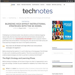 Blending High-Effect Instructional Strategies with the 5E Model