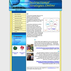 Instructional Strategies Online