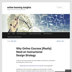 Why Online Courses [Really] Need an Instructional Design Strategy