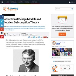 Instructional Design Models and Theories: Subsumption Theory