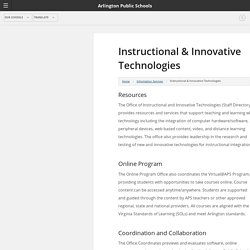 Instructional & Innovative Technologies - Arlington Public Schools