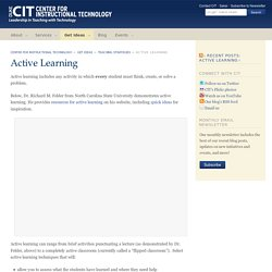 Active Learning - Center for Instructional Technology