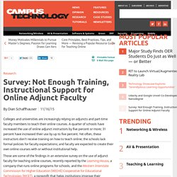 Survey: Not Enough Training, Instructional Support for Online Adjunct Faculty