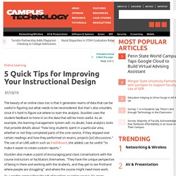 5 Quick Tips for Improving Your Instructional Design