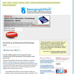 Facebook as an Instructional Technology Tool | Emerging Internet Technologies for Education