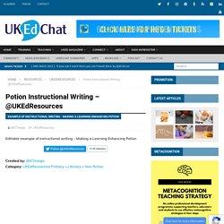 Potion Instructional Writing – @UKEdResources