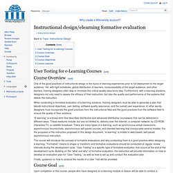 ID elearning formative evaluation