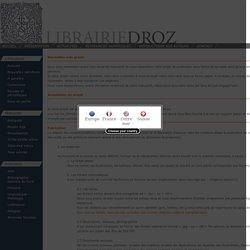 Instructions aux auteurs - Librairie Droz
