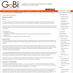 Instructions For Authors - GaBI Journal