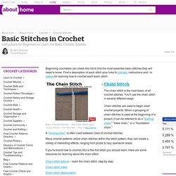 Basic Stitches in Crochet -- Instructions for Beginners to Learn the Basic Crochet Stitches