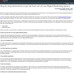Step by step instructions to get the best out of your Digital Marketing Agency