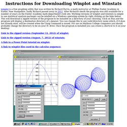 Instructions for Downloading WinPlot and Winstats