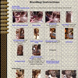 Braiding Instructions from Dreamweaver Braiding