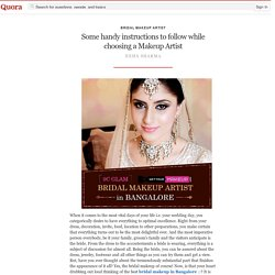Top Makeup Artists in Bangalore
