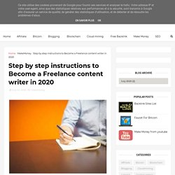 Step by step instructions to Become a Freelance content writer in 2020 - Earn money Make money online Online Income Digital , Support , Bengal