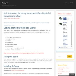 Draft instructions for getting started with PiFace Digital (full instructions to follow)