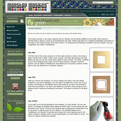 Mosaic Instructions including how to grout mosaics