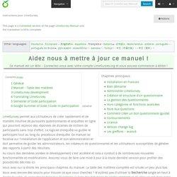 Instructions pour LimeSurvey — LimeSurvey Manual