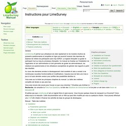 Instructions pour LimeSurvey - LimeSurvey Manual