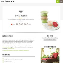 Body Scrub - Martha Stewart Crafts by Material