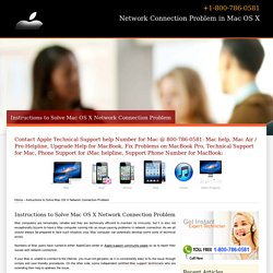Instructions to Solve Mac OS X Network Problem-800-786-0581