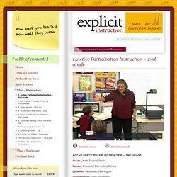 Effective and Efficient Teaching » 1. Active Participation Instruction – 2nd grade