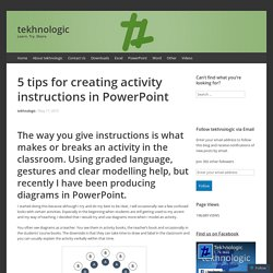 5 tips for creating activity instructions in PowerPoint