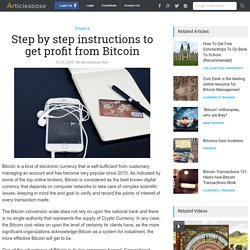 Step by step instructions to get profit from Bitcoin