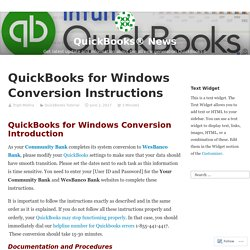 QuickBooks for Windows Conversion Instructions – QuickBooks® News