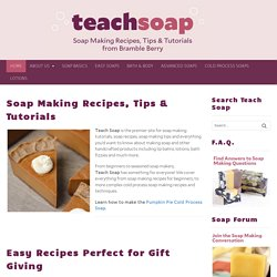 Soap Making Instructions | Soap Making Recipes and Tutorials | Teach Soap - StumbleUpon