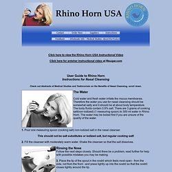 TQM - Rhino Horn USA - Instructions & Testimonials