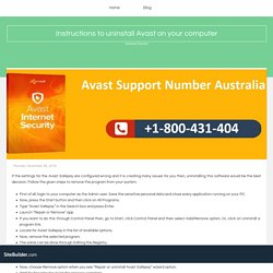 Instructions to uninstall Avast on your computer