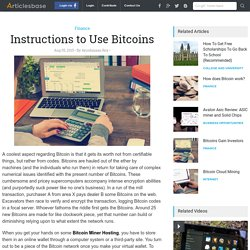 Instructions to Use Bitcoins