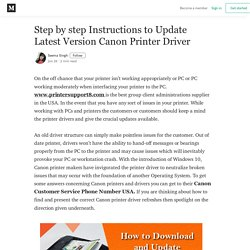 Step by step Instructions to Update Latest Version Canon Printer Driver
