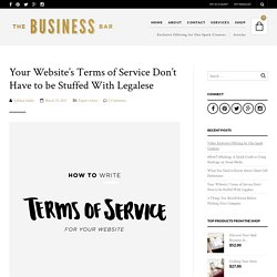 Instructions for Writing Your Website's Terms of Service