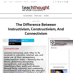 The Difference Between Instructivism, Constructivism, And Connectivism -