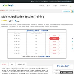 Instructor Led Online Mobile Application Testing Training Classes by Experts