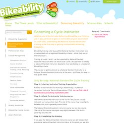 Becoming a Cycle Instructor | Bikeability