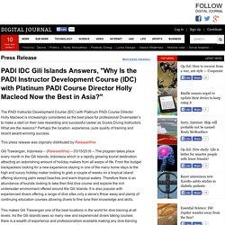Best PADI IDC program in Asia